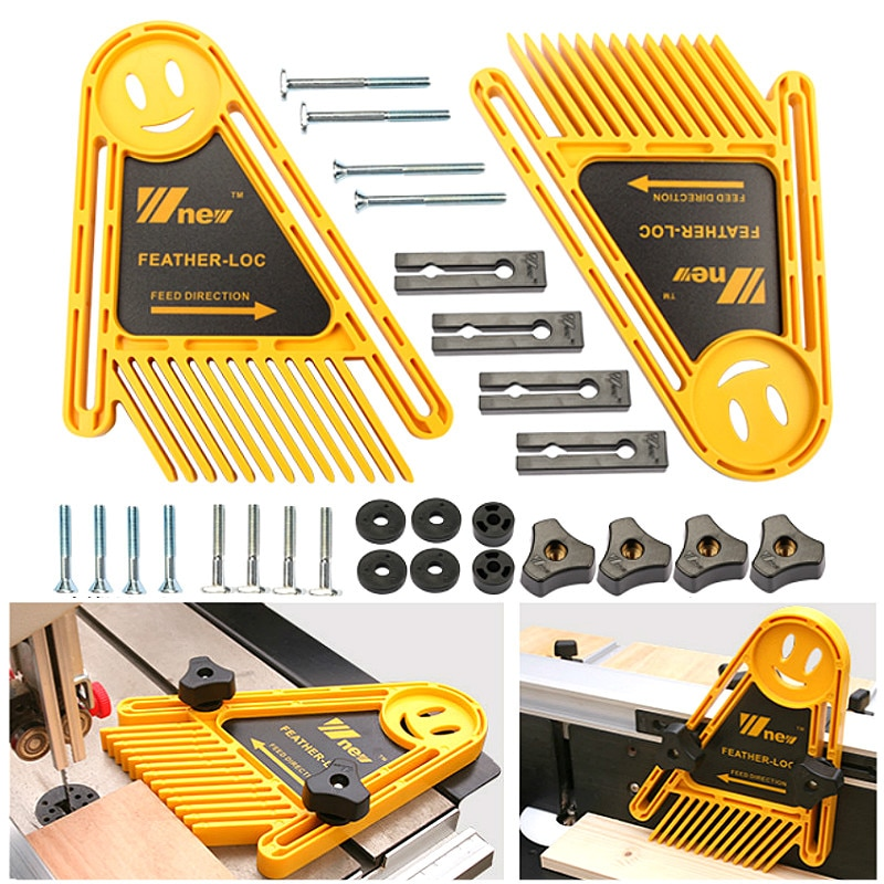 G20 Multi-purpose Feather Loc Board Set Woodworking Engraving Machine Double Featherboards Miter Gauge Slot Woodwork DIY Tools