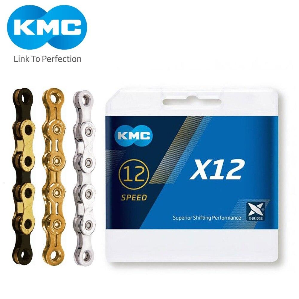 KMC X12 12 velocidades 126L MTB Cadena de bicicleta de montaña 12s Cadena dorada con enlace mágico para piezas de bicicleta CON CAJA Original