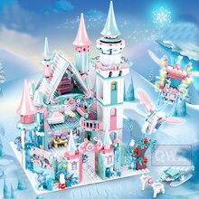 2020 nouveaux blocs de construction filles briques jouet assemblé 2 ami bonhomme de neige enfants Duploed princesse neige voiture château blocs