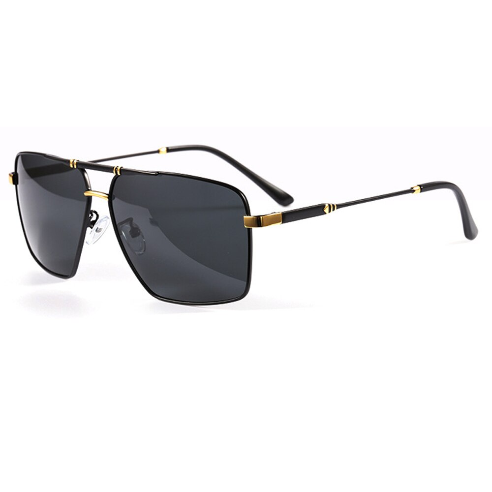 2021 Black Polarized Men Rectangle Sunglasses Metal Frame UV400 Driving Glasses For Men Come With Box