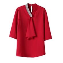 Satin Chiffon Small Shirt Top Women's Design Non-mainstream Spring New Shirt Fashionable Stylish Whi