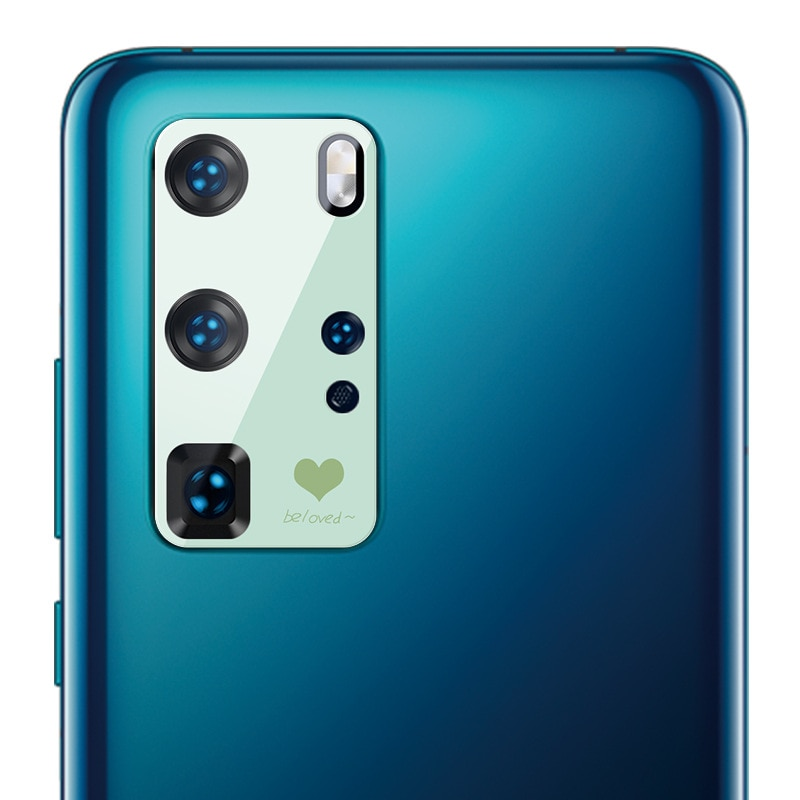 Colorful Cartoon Full Camera Acrylic Protector for Huawei P40 P40 Pro Hollow Camera Lens Protective Film For Huawei P40 Pro
