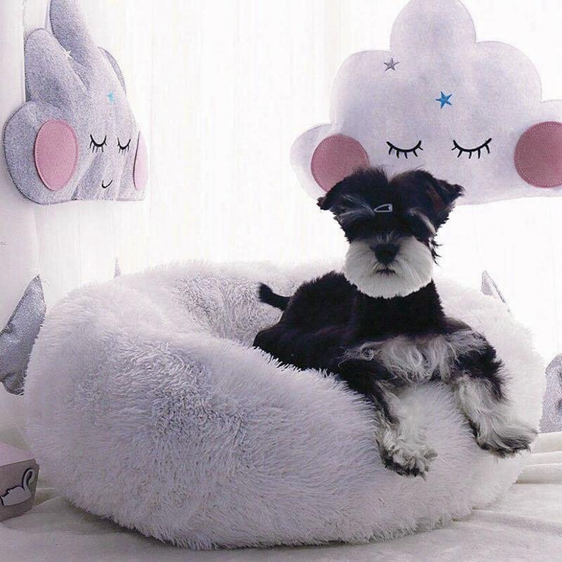Nuevo pequeño nido de mascotas cama de algodón caliente frío invierno mascotas mantener caliente sólido suave transpirable cama para mascotas AB