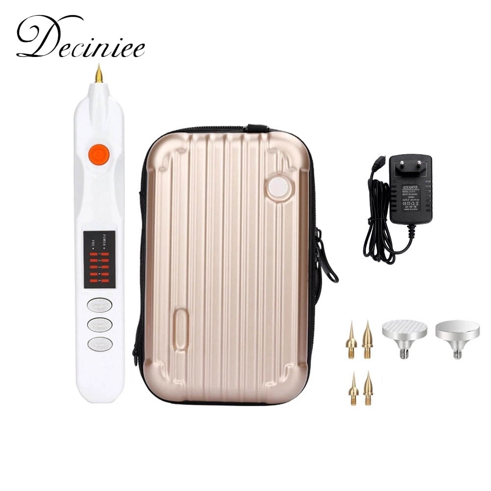 Electric Plasma Pen Mole Removal Dark Spot Remover LCD Skin Care Point Pen Skin Wart Tag Tattoo Removal Tool Beauty Care 9 level lcd face skin dark spot remover mole tattoo removal laser plasma pen machine facial freckle tag wart removal beauty care