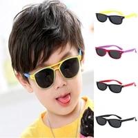 childrens fashion polarized sunglasses silicone uv400 glasses classic retro soft sunglasses girls goggles anti glare glasses