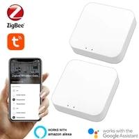 Tuya     passerelle intelligente ZigBee Bridge 3 0 Gateway Hub  application Smart Life  telecommande sans fil  fonctionne avec Alexa Google Assistant  maison intelligente
