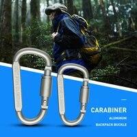 5pcs hiking carabiner travel kit camping equipment alloy aluminum survival gear mountaineering hook mosqueton carabiner