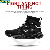 2021women and men work safety shoes anti smashing puncture proof work boots be applicable outdoor steel toe