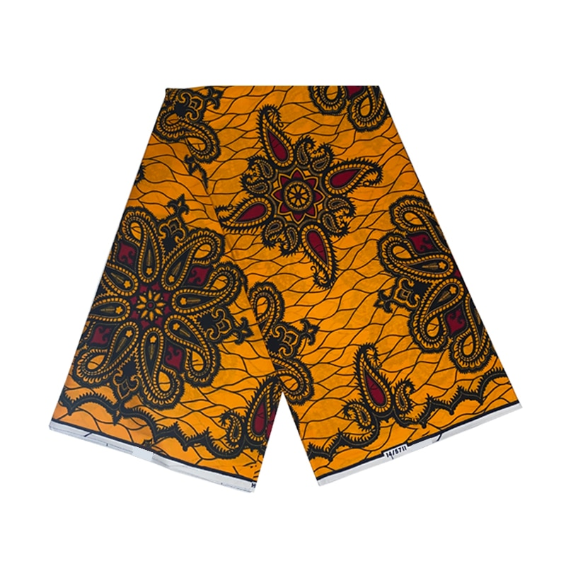 100%Soft Breathable Wax Printed Cotton Fabric Veritable Best Quality Ankara African Sewing Material For Dress 6 Yards V-L 3-71