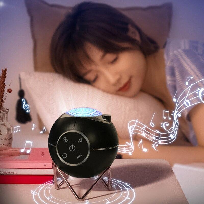 Проектор звездного неба, проектор с голосовым управлением музыкой, планеты, лазерный проектор для декора комнаты с USB, атмосфера для свадебн...