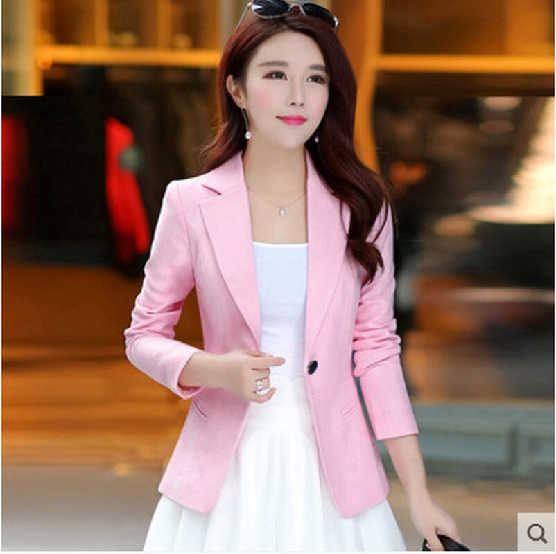 2019 The New Slim fit Autumn Spring button codeWomen's Blazer Elegant fashion Lady Blazers Female Bi