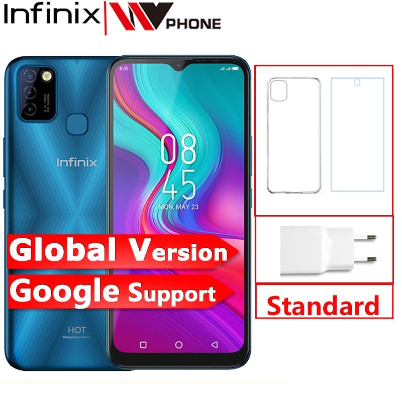 الإصدار العالمي من هاتف انفينيكس الساخن 10 لايت 2GB 32GB الهاتف المحمول 6.6 'HD 1600*720P 5000mAh بطارية 13MP كاميرا هيليو A20