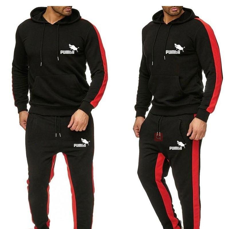 Мужской спортивный костюм, зимний мужской модный флисовый костюм, спортивные костюмы для бега, мужские комплекты, толстовки, спортивный кос...