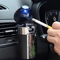 ashtray with lid luminous ashtray with led light socket creative hanging interior products safe ashtray for use car accessories