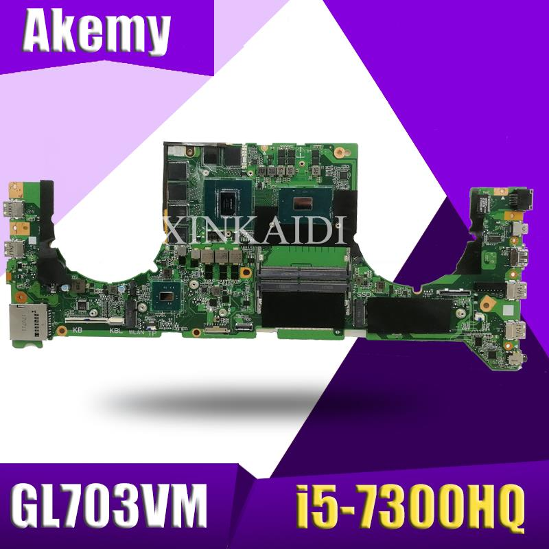 Gl703vm da0bknmbab0 w i5-7300HQ cpu N17E-G1-A1 gpu para asus gl703vm portátil computador portátil computador portátil placa de sistema placa mãe mainboard