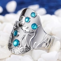 bohemian vintage metal goldfish ring female finger ring exquisite fashion glamour party club jewelry gift 2021 ring trend