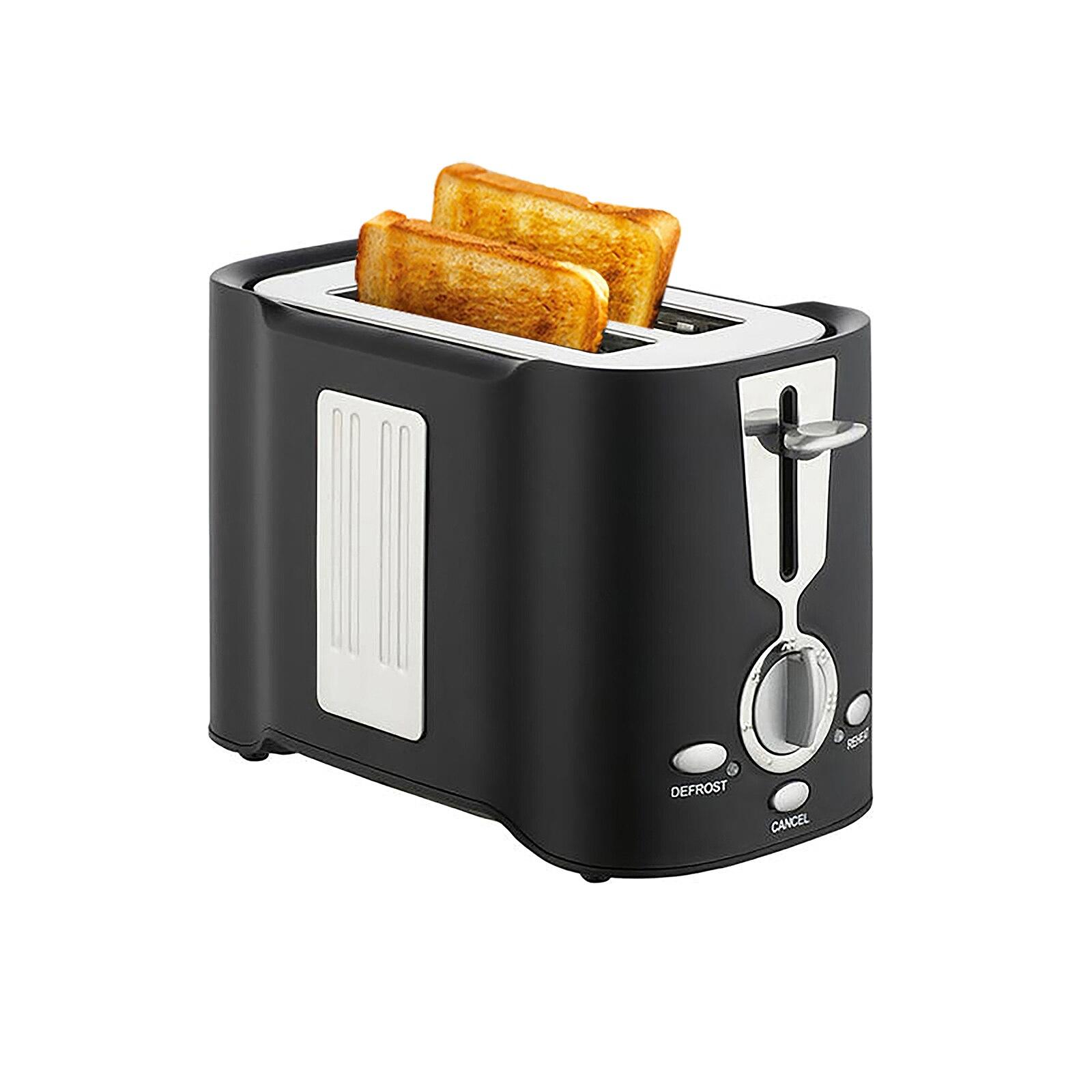 لنا المكونات 800W 2 شريحة محمصة سريعة التدفئة المنزلية محمصة فتحة واسعة 7 مستوى إعدادات الخبز للخبز