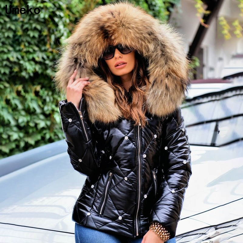 2021 Winter Parkas Women Pure Color Fashion Jacket Coat Casual Thick Warm Short Hooded Outerwear Fem