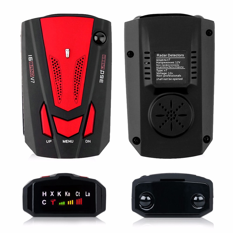 Auto 16 Band GPS Car Radar Detector for Car V7 X K NK Ku Ka Laser VG-2 Speed Voice Alert 360 Degree Warning LED Display