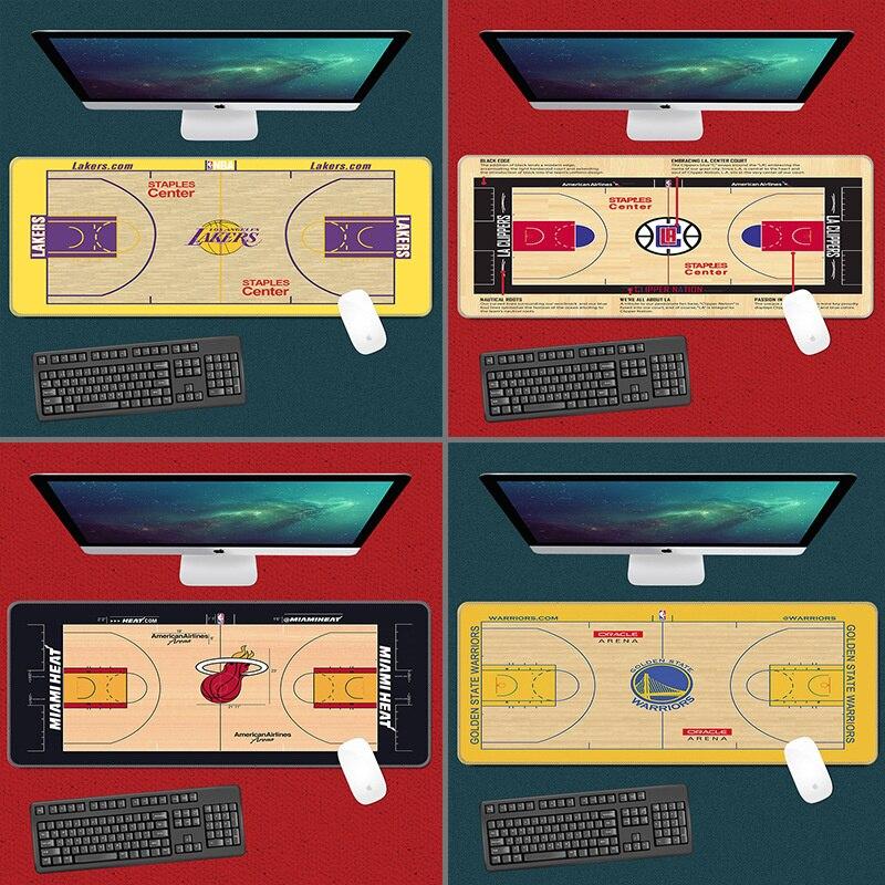 Коврик для мыши для баскетбольной площадки, большой, средней длины, для игр, видеоигр, клавиатуры, коврик для мыши, Настольный коврик, новинк...