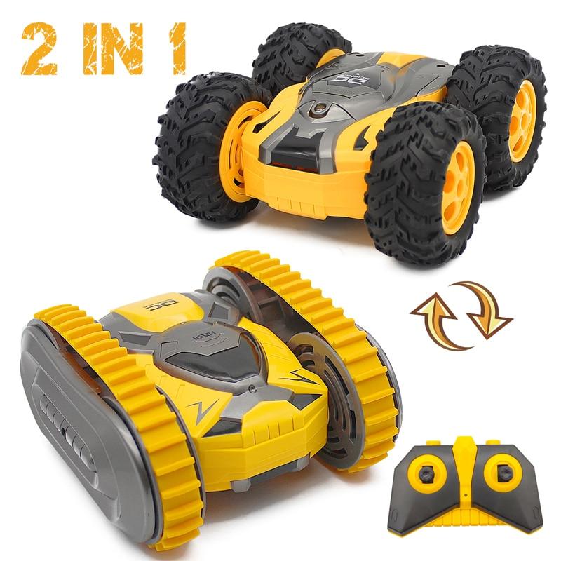 RC Car Mini Stunt Two-Side Drift Buggy Car 2.4G Crawler Roll Radio Remote Control Car 360 Rotation Tumbling Vehicle Boy Toy Gift