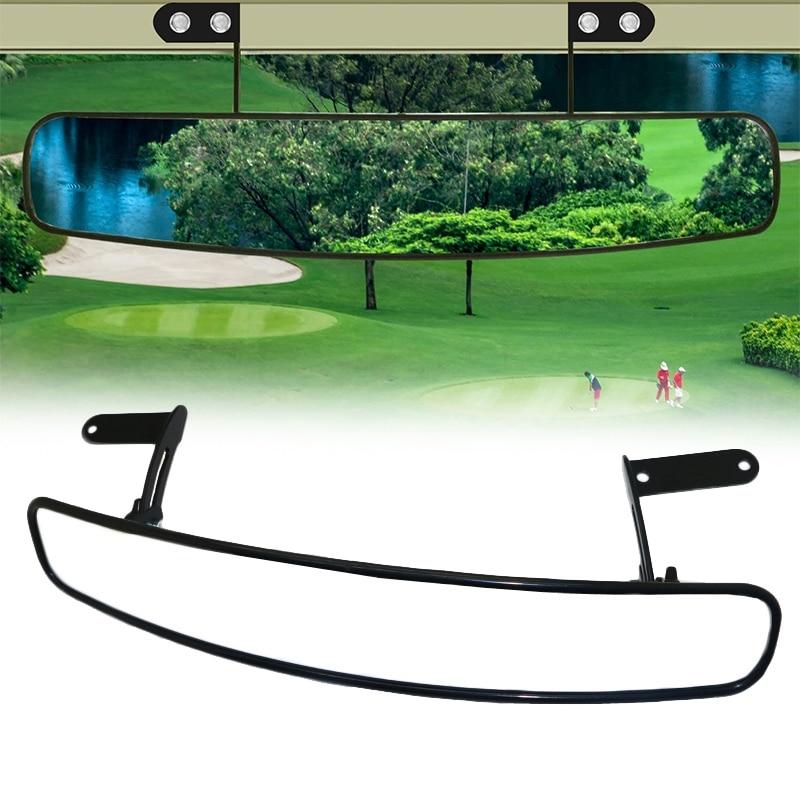 SEWS-espejo convexo Universal de 16,5 pulgadas para carrito de Golf EZ Go, Club Car, Yamaha, panorámico de 180 grados extraancho