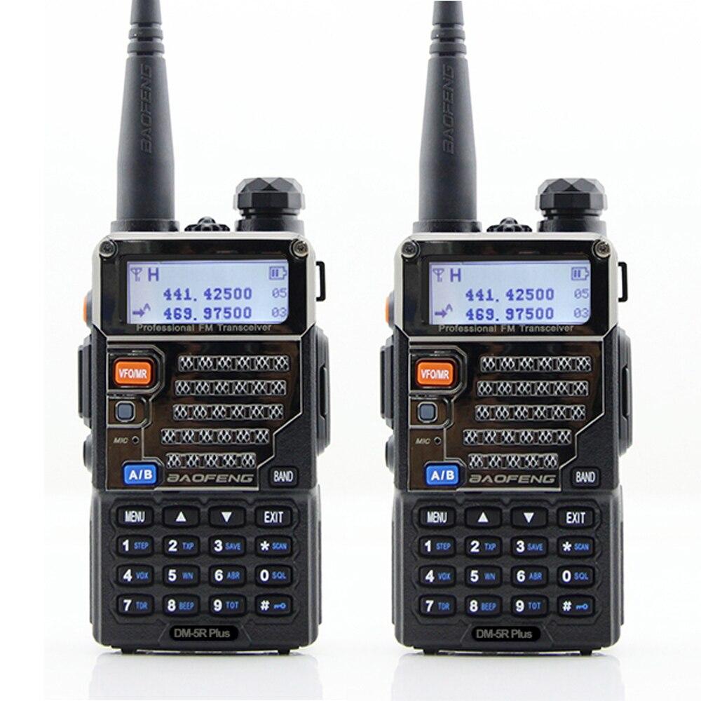 2 قطعة/الوحدة BAOFENG DMR الرقمية راديو DM-5R زائد المزدوج الفرقة 136-174 و 400-480 ميجا هرتز اسلكية تخاطب المزدوج الوقت فتحة FM جهاز الإرسال والاستقبال