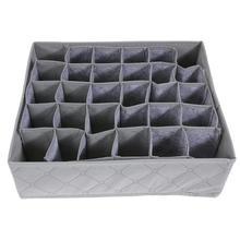 Boîte de rangement pliable 30 cellules   Boîte de rangement en tissu Non tissé charbon de bambou, organisateur de sous-vêtements, soutien-gorge, cravate, culotte, étui tiroir