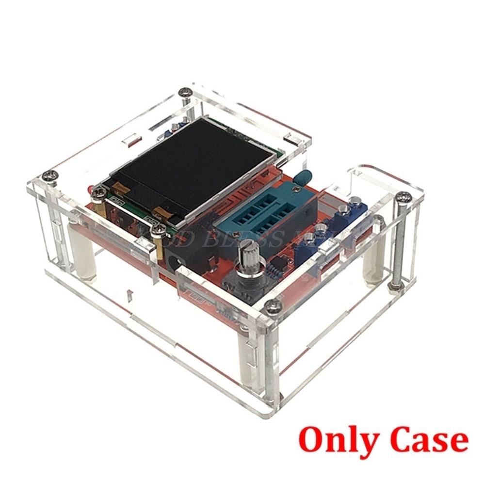 De acrílico transparente caso Shell para TFT GM328 Transistor Tester de LCR ESR Metro PWM de onda cuadrada, Kit de bricolaje, único caso de la nave de la gota