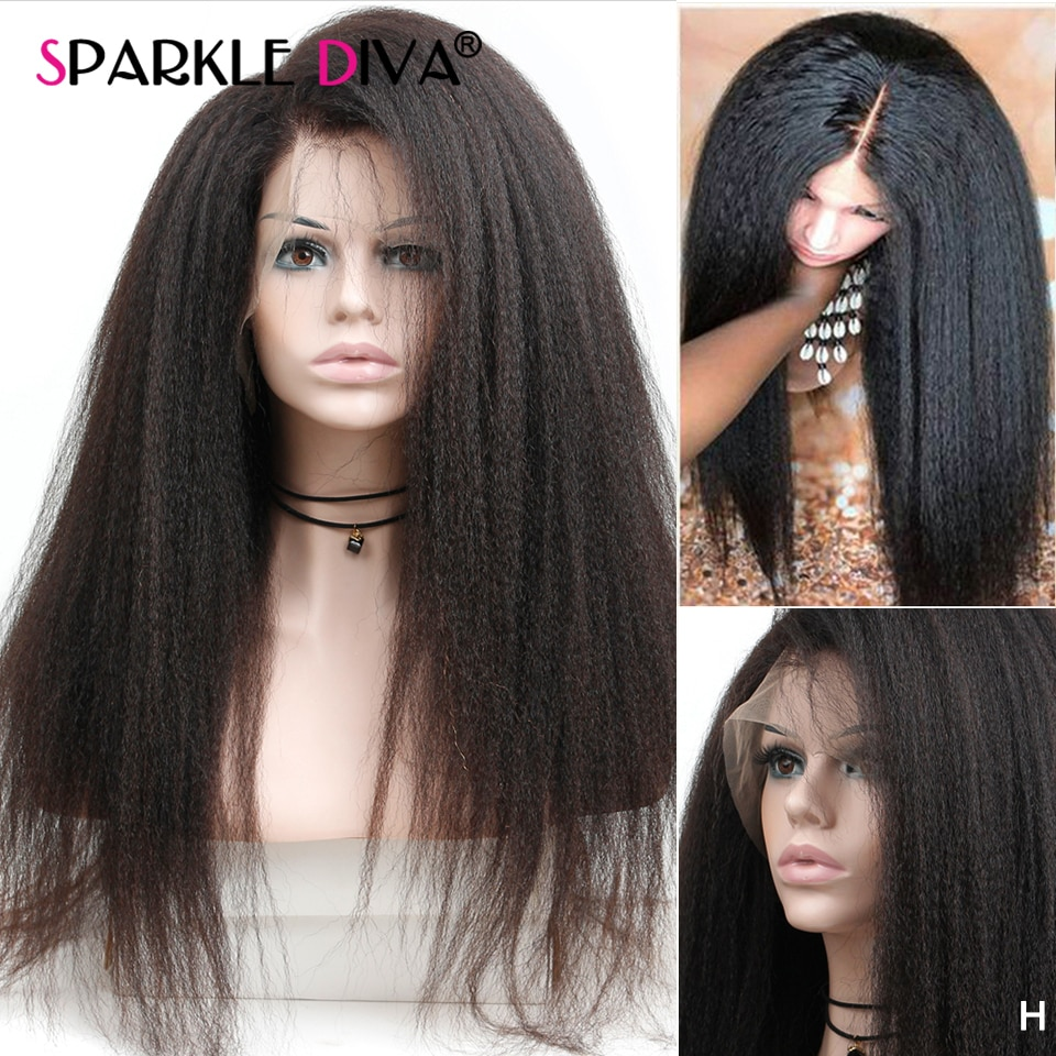 Yaki Straight 13x4 Lace Front Wig Brazilian Human Hair Wigs Remy Saga Yaki Straight Lace Frontal Wig Pre Plucked With Baby Hair