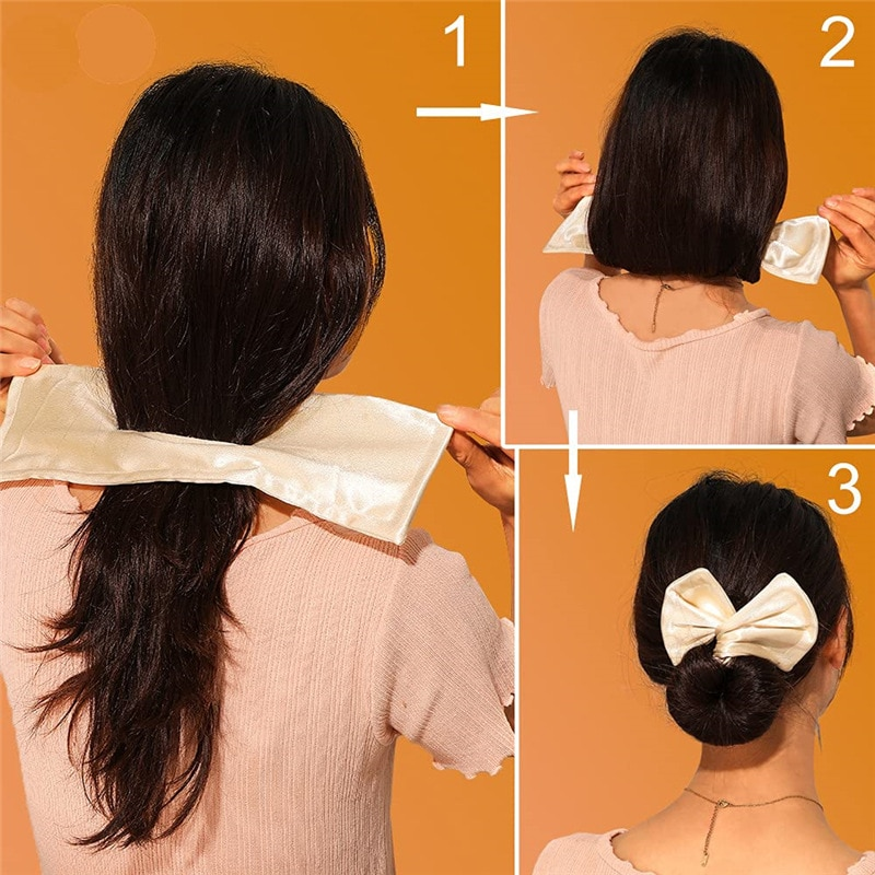 bun bun button 1PC Deft Bun Women Hair Styling Headband Hair Twist French Stylish Hair Bun Vintage Party Hair Styling Bun for Women Accessories