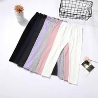 new baby girls leggings cotton big pants spring autumn kids girl pants fashion mid waist nine trousers childrens pant3 8y