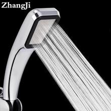 ZhangJi ขายร้อน300หลุมความดันสูงหัวฝักบัวน้ำประหยัดพลังงานกระแสเงินสด Chrome ABS ฝนหัวฉีดสเปรย์ห้องน้...