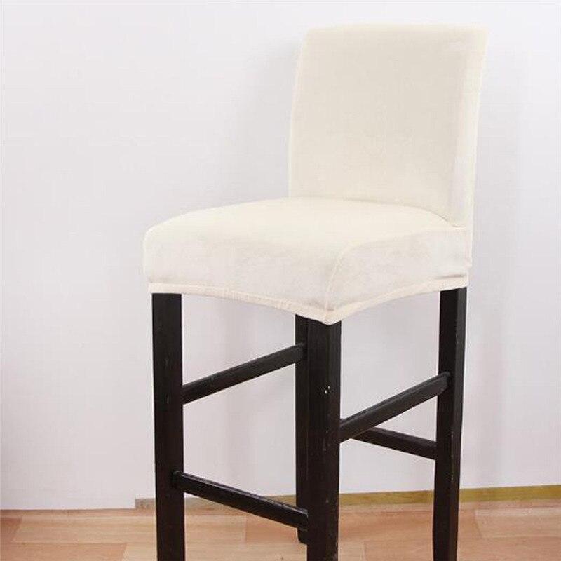 Pure Color estiramiento Bar funda para asiento de silla cubre Slipcover Hotel Banquete de cena butaca Navidad hogar