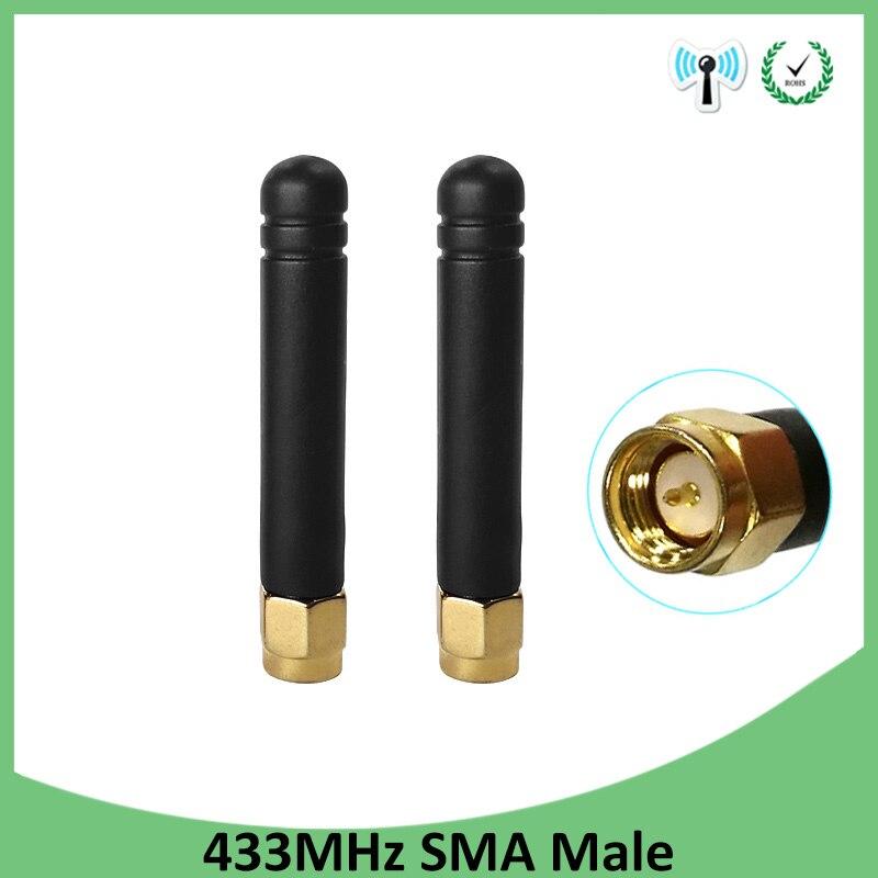 20 piezas 433 MHz Antena 3dbi conector macho SMA, 433 MHz direccional Antena tamaño pequeño impermeable Antenne para Lorawan watermeter