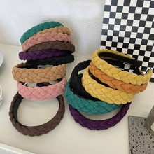 Suede Braid Hairbands Headbands Ornament Accessories For Women Hair Accessories Wholesale