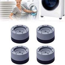 4Pcs Anti Vibration Feet Pads Rubber Legs Slipstop Silent Skid Raiser Mat For Washing Machine Suppor