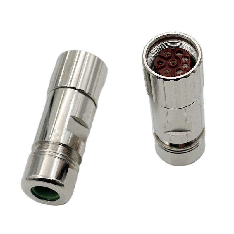 M23 Connector 6 Pin 8 Pin Cores Female Or Male Connector Servo Motor Encoder Plug Socket