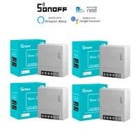 1-20 pieces SONOFF MINIR2 Wifi Sans Fil BRICOLAGE Mini R2 Interrupteur 2 Voies Cablage Intelligent Domotique  Soutien eWelink Alexa Google Home