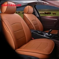 cartailor new cowhide leather auto cover seats protector for mini countryman car seat covers supports interior accessories set