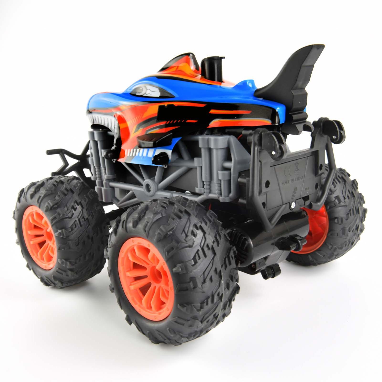 Toys 1/18 RC Car 2.4Ghz Stunt Car Remote Control Stunt Vehicle Toys with Rear Fog Stream Music LED Light Auto-Play RC Spray Car enlarge
