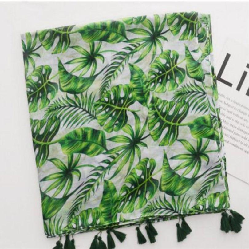 LJCUIYAO Fashion Women Boho Floral Long Scarf Neck Causal Wrap Lady Beach Shawl Large Soft Scarves For Girls Printed Scarfs Hot