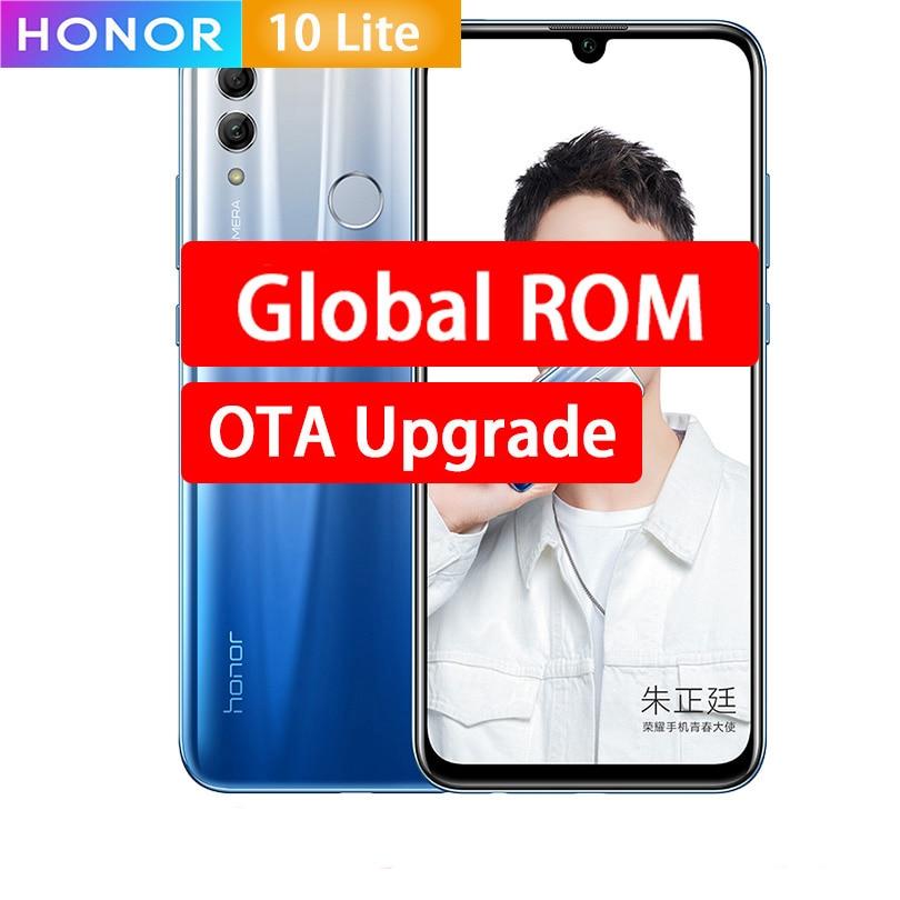 "Honor 10 Lite Mobile Phone 6.21""Full Screen EMUI 9.0 Kirin 710 Octa Core 3400mAh Fingerprint 4 Cameras 24.0MP Smartphone"