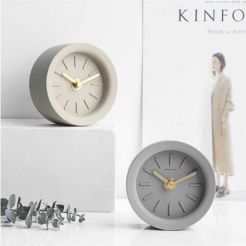 1 reloj de mesa, reloj de escritorio, estilo Industrial, puntero de latón, reloj doméstico sin batería