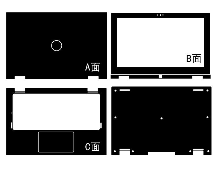 """Laptop Aufkleber Haut Aufkleber Carbon fiber PU Leder Hülle für DELL Inspiron 11-3000 3147 3148 3157 3158 11.6"""""""