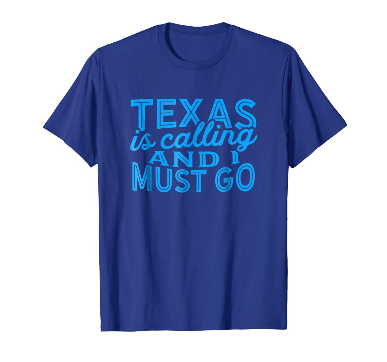Техас звонит, и я должен пойти на рубашку (синий)