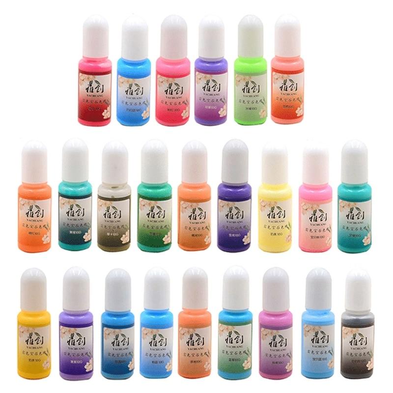 10 colors uv resin solid pigment kit poxy resin liquid colorant dye jewelry diy u4le 24 Colors Epoxy Pigment Opaque Liquid Resin Colorant Non-Toxic Epoxy Resin Macaron Dye Solid Color Liquid Resin Dye Kit
