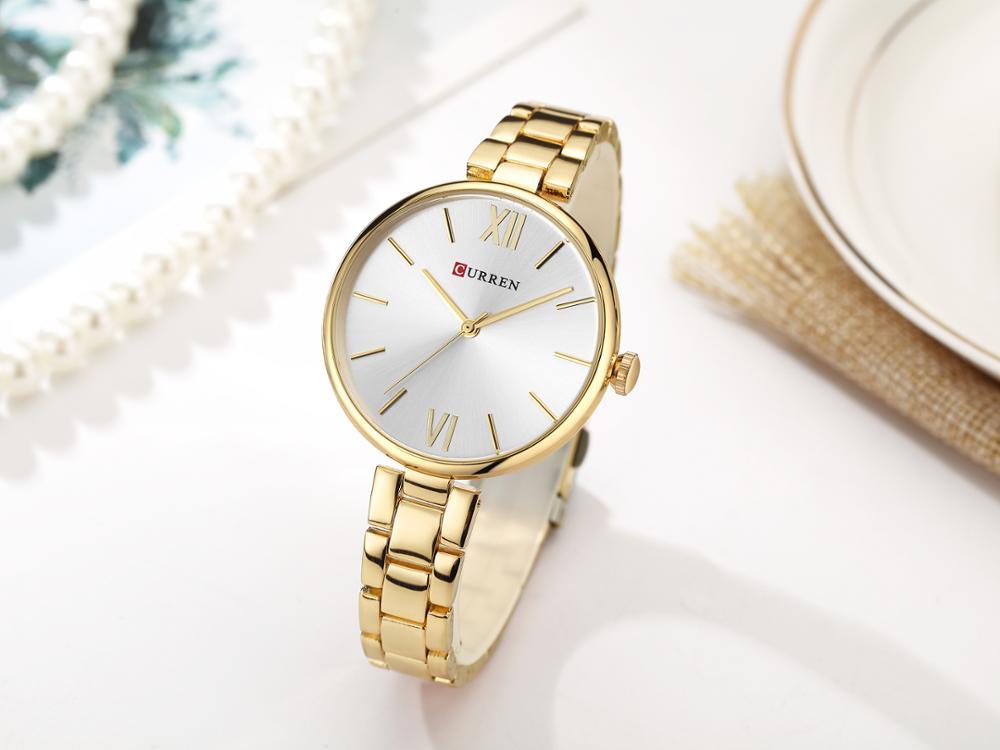 CURREN Fashion Women Watch 2019 Casual Luxury Design Ladies Watches High Quality Slim Stainless Steel Waterproof Zegarek Damski enlarge