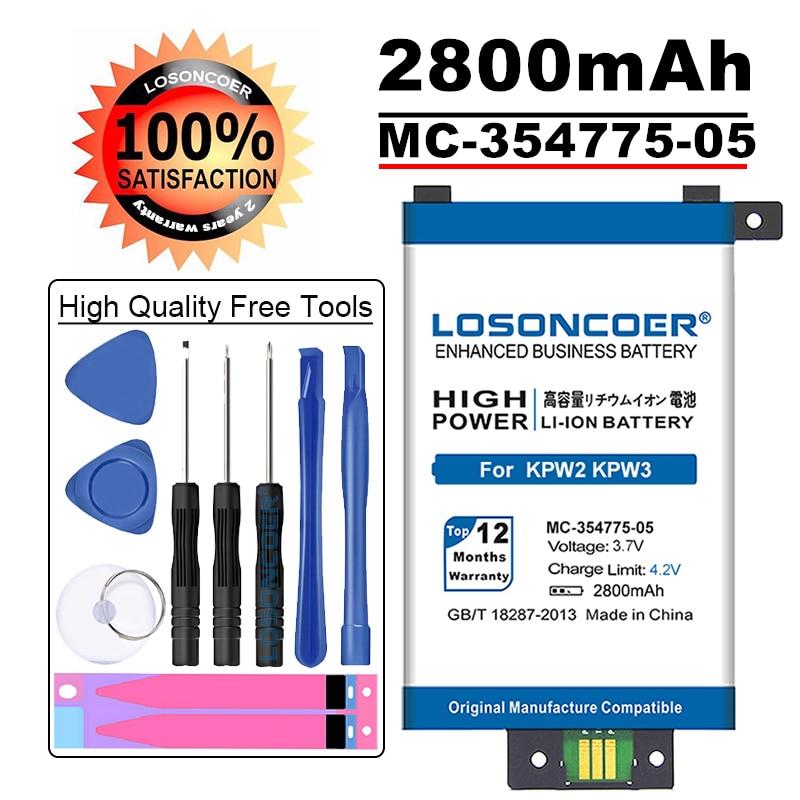 LOSONCOER 2800 мАч MC-354775-05 58-000049 аккумулятор большой емкости для Amazon Kindle PaperWhite 2/3 KPW3 KPW2 аккумулятор DP75SDI S13-R1