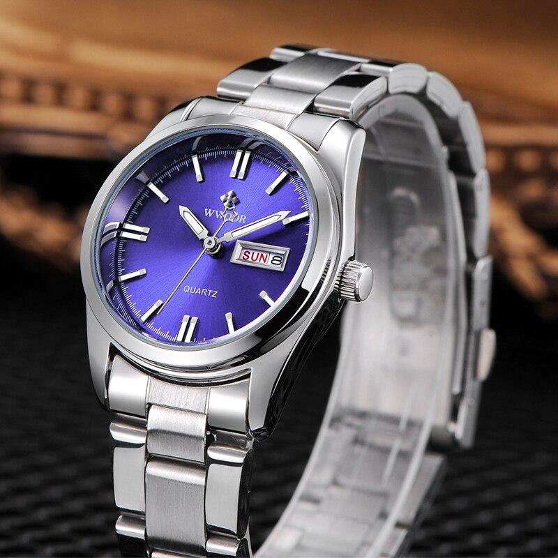 montre femme 2020 WWOOR Watch Women Luxury Blue Elegant Ladies Watch Women Fashion Steel Strap Waterproof Wristwatch Reloj Mujer enlarge